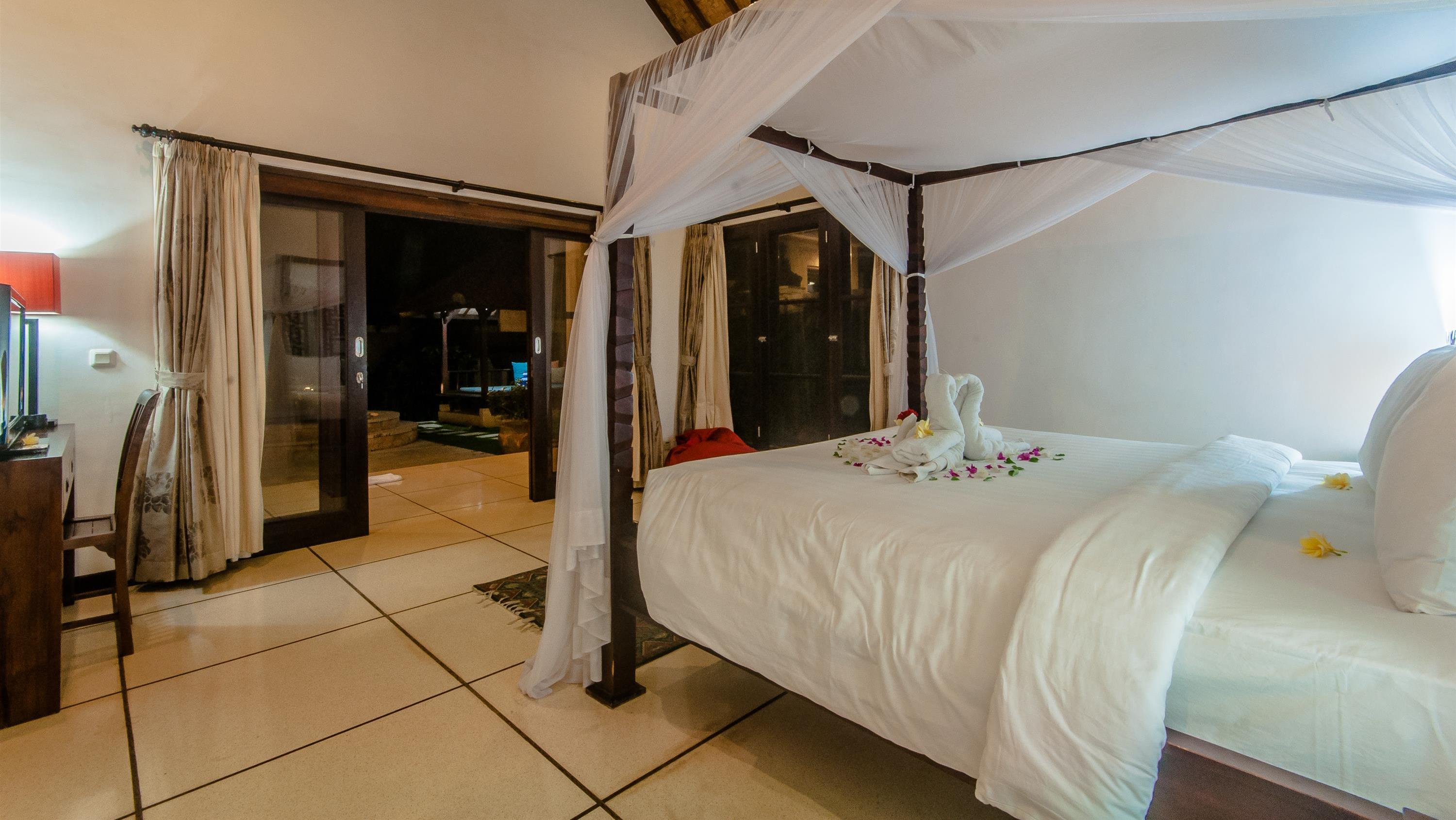 Bedroom at Night - Villa Ginger - Seminyak, Bali