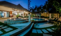 Gardens and Pool at Night - Villa Ginger - Seminyak, Bali