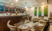 Dining Area with Crockery - Villa Ginger - Seminyak, Bali