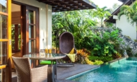 Pool Side Dining - Villa Gita Ungasan - Ungasan, Bali