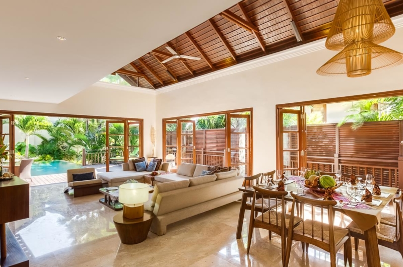 Living and Dining Area with Pool View - Villa Gita Ungasan - Ungasan, Bali