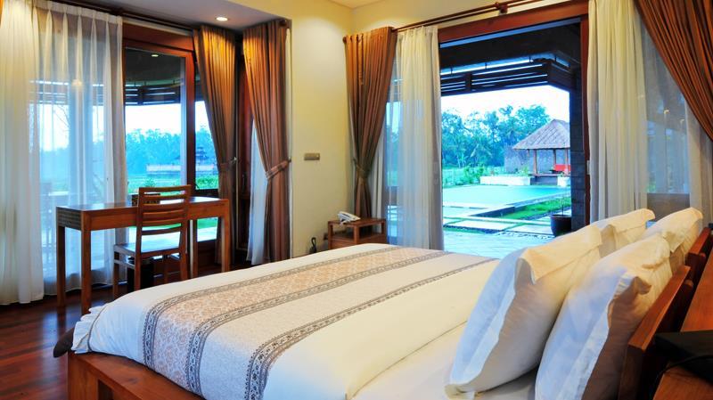 Bedroom with Pool View - Villa Griya Aditi - Ubud, Bali