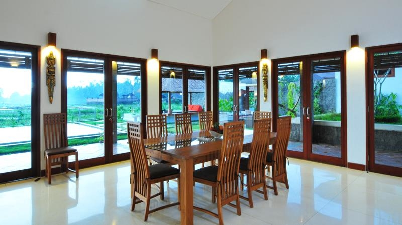 Dining Area with Garden View - Villa Griya Aditi - Ubud, Bali