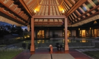 Pool Bale at Night - Villa Griya Atma - Ubud, Bali