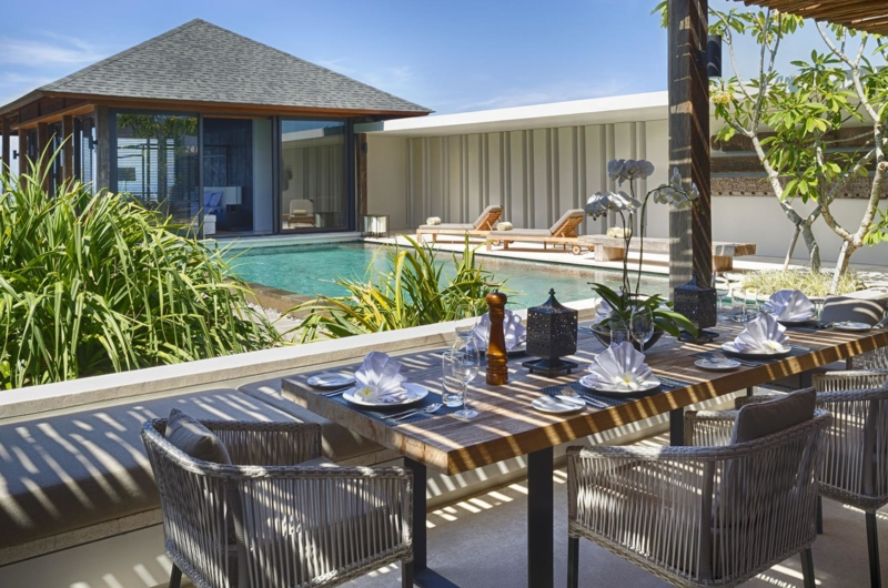 Dining Area with Pool View - Villa Hamsa - Ungasan, Bali