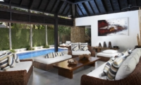 Living Area with Pool View - Villa Hana - Canggu, Bali