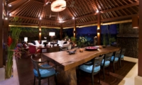 Living and Dining Area at Night - Villa Hansa - Canggu, Bali