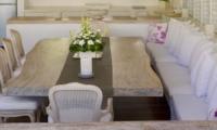 Indoor Dining Area - Villa Hermosa - Seminyak, Bali