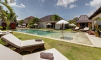 Pool Side Loungers - Villa Iluh - Seminyak, Bali