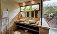His and Hers Bathroom with Mirror - Villa Iluh - Seminyak, Bali