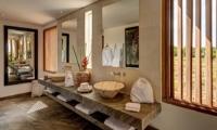En-Suite His and Hers Bathroom with Mirrors - Villa Iluh - Seminyak, Bali