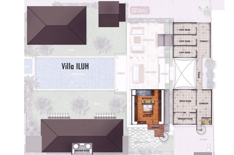 Floor Plan Top View - Villa Iluh - Seminyak, Bali