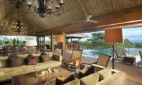 Living Area with Pool View - Villa Indah Manis - Uluwatu, Bali