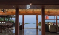 Living and Dining Area with Pool View - Villa Indah Manis - Uluwatu, Bali