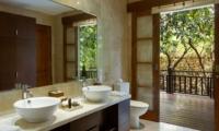 His and Hers Bathroom with View - Villa Indah Ungasan - Uluwatu, Bali