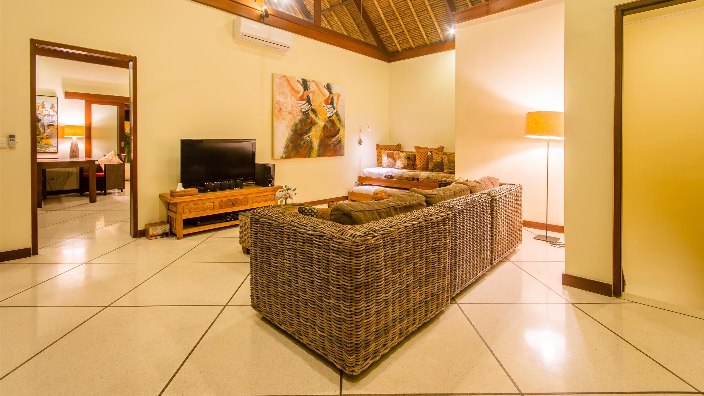 Lounge Area with TV - Villa Intan - Seminyak, Bali