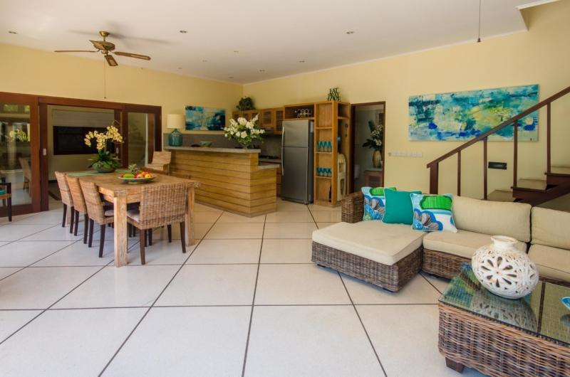 Living, Kitchen and Dining Area - Villa Intan - Seminyak, Bali