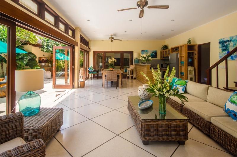 Living Area with Pool View - Villa Intan - Seminyak, Bali