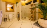 Semi Open Bathroom with Shower - Villa Intan - Seminyak, Bali
