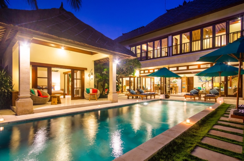 Swimming Pool at Night - Villa Intan - Seminyak, Bali