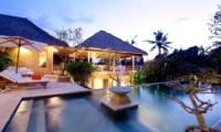 Outdoor Area at Night - Villa Inti - Canggu, Bali