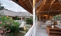 Living Area with Pool View - Villa Inti - Canggu, Bali