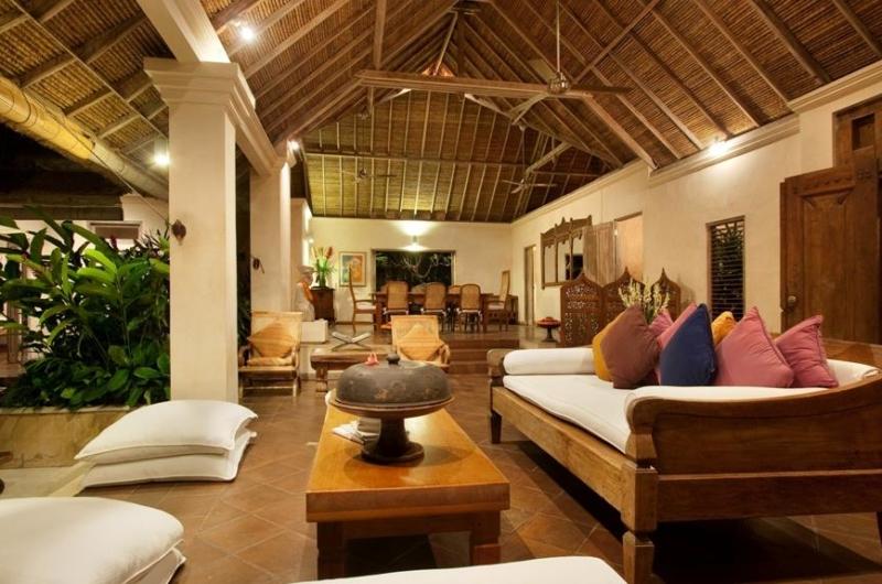 Living and Dining Area at Night - Villa Inti - Canggu, Bali