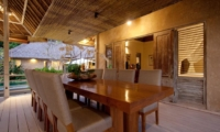 Dining Area with Pool View - Villa Inti - Canggu, Bali
