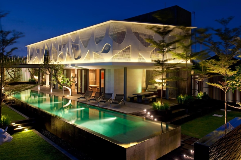 Gardens and Pool at Night - Villa Issi - Seminyak, Bali