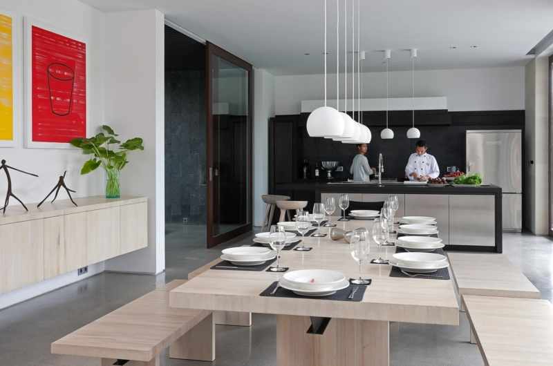 Kitchen and Dining Area - Villa Issi - Seminyak, Bali
