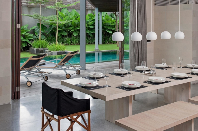 Dining Area with Pool View - Villa Issi - Seminyak, Bali