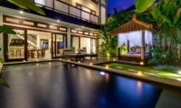 Swimming Pool at Night - Villa Istana Dua - Seminyak, Bali