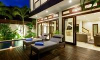 Pool Side Loungers - Villa Istana Dua - Seminyak, Bali