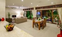 Living and Dining Area with TV - Villa Istana Dua - Seminyak, Bali