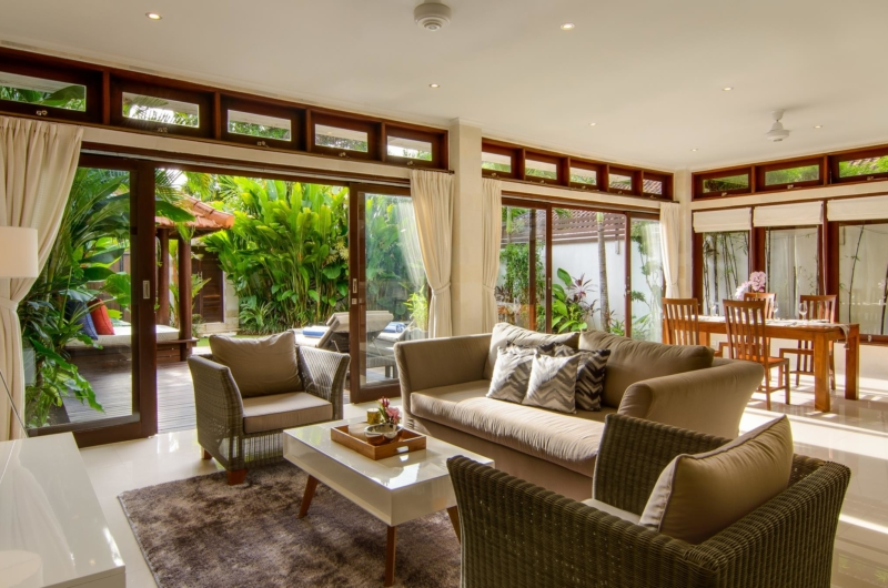 Living and Dining Area - Villa Istana Dua - Seminyak, Bali