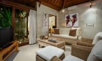 Seating Area with TV - Villa Istana Satu - Seminyak, Bali