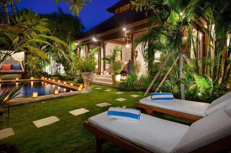 Pool Side Loungers - Villa Istana Satu - Seminyak, Bali