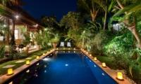 Pool at Night - Villa Istana Satu - Seminyak, Bali