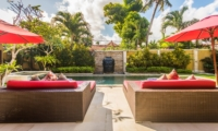 Pool Side Loungers - Villa Jaclan - Seminyak, Bali