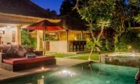 Sun Beds at Night - Villa Jaclan - Seminyak, Bali