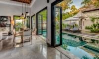 Dining Area with Pool View - Villa Jepun Residence - Seminyak, Bali