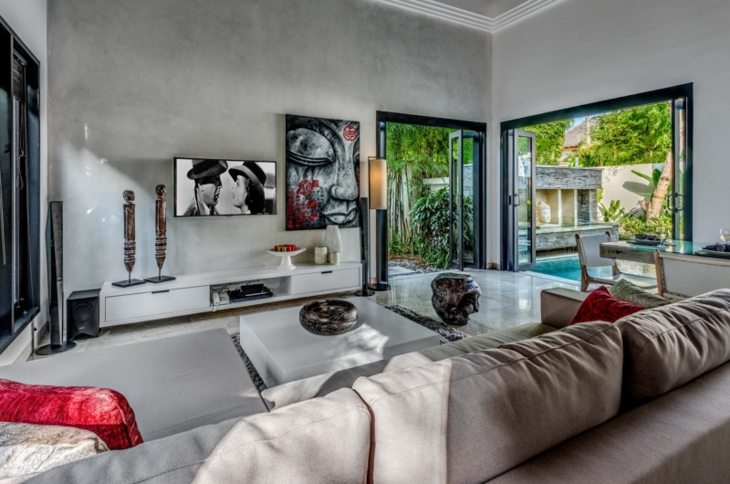Lounge Area with TV - Villa Jepun Residence - Seminyak, Bali