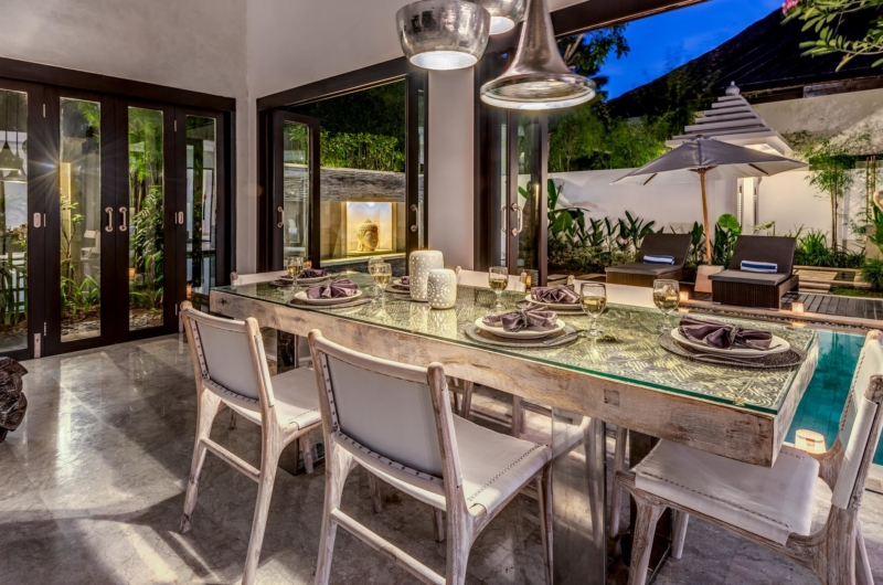 Indoor Dining Area with Pool View - Villa Jepun Residence - Seminyak, Bali