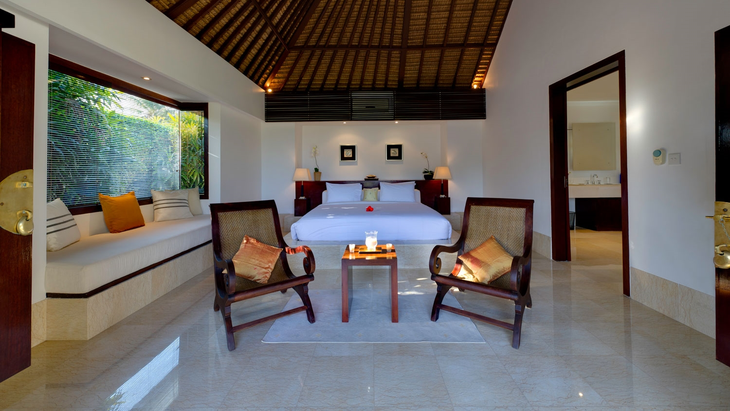 Bedroom with Chairs and Sofa - Villa Kailasha - Tabanan, Bali