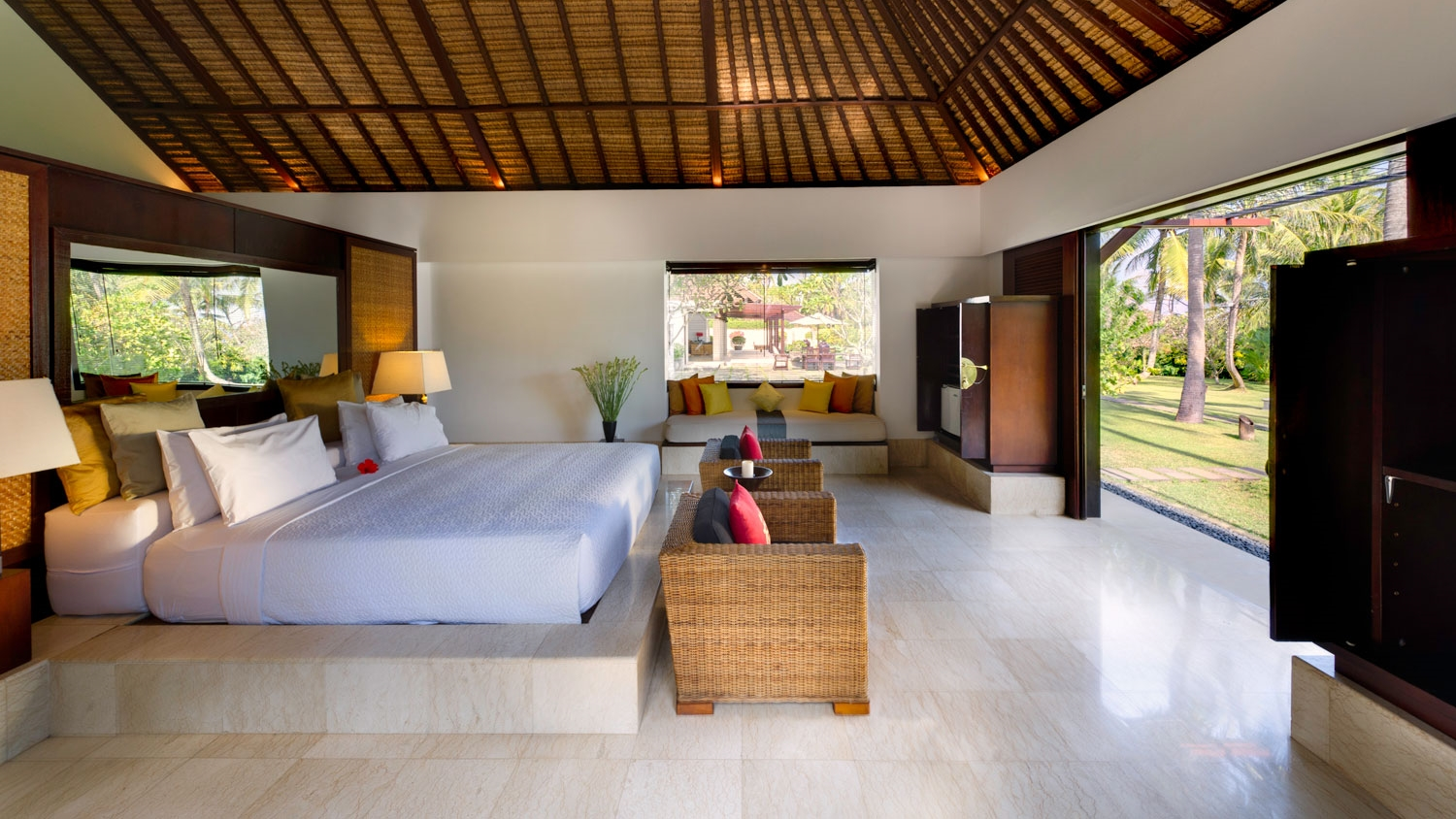 Spacious Bedroom with Seating Area - Villa Kailasha - Tabanan, Bali