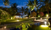 Gardens and Pool at Night - Villa Kailasha - Tabanan, Bali