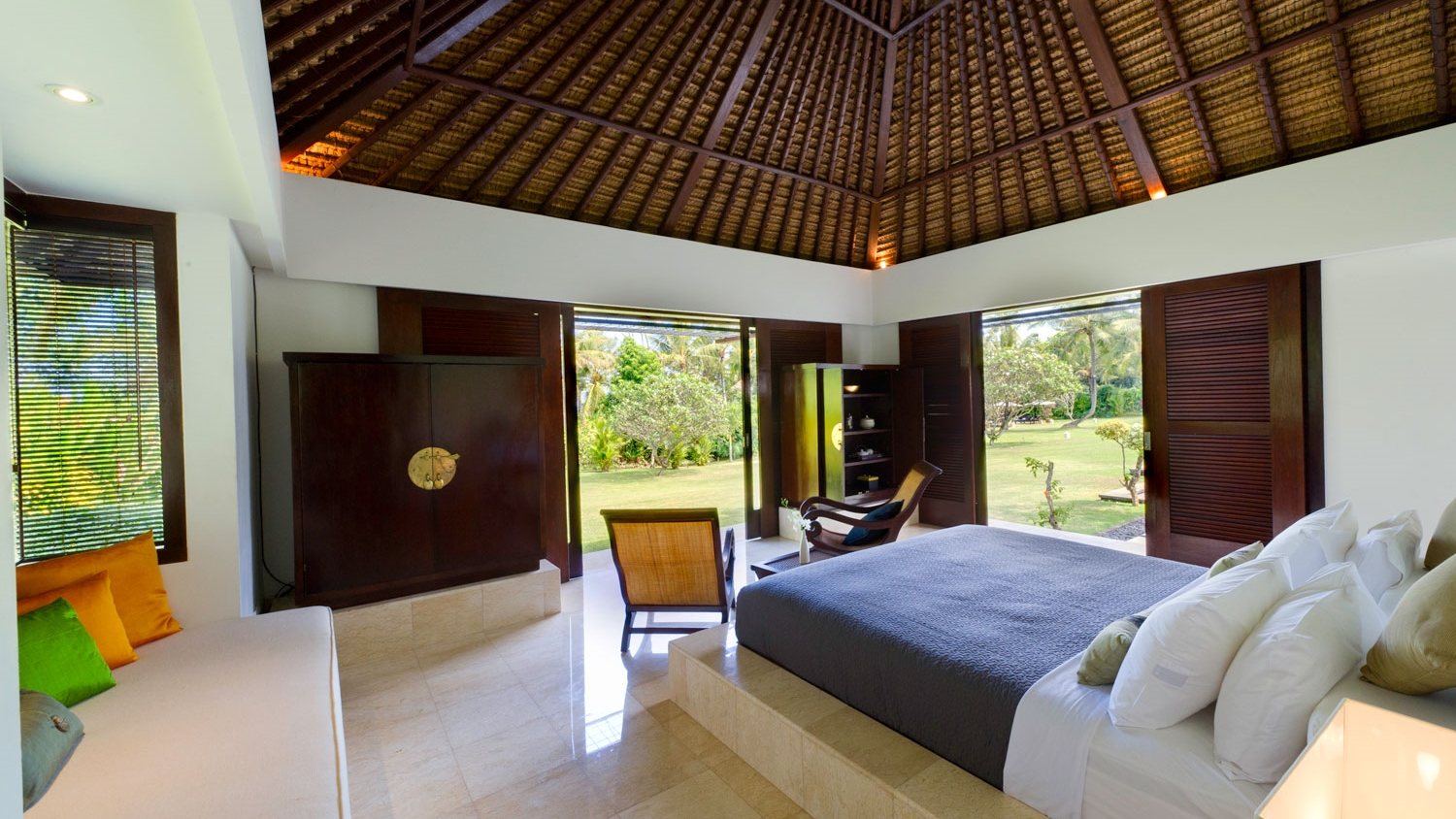 Bedroom with Seating Area and View - Villa Kailasha - Tabanan, Bali