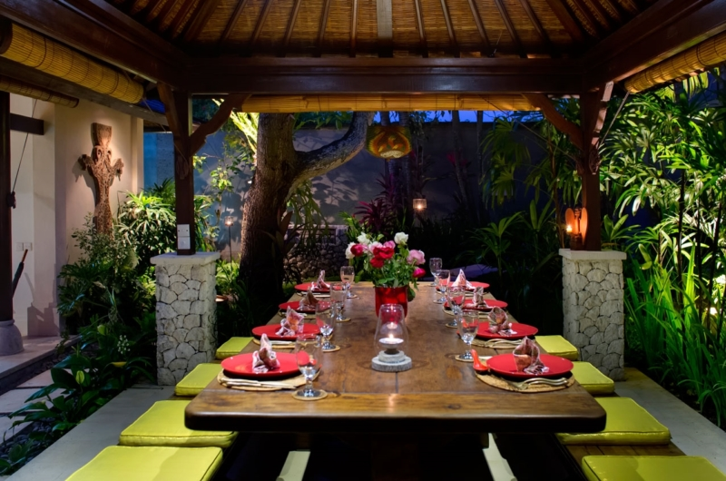 Dining Area at Night - Villa Kakatua - Canggu, Bali