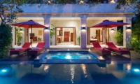 Swimming Pool at Night - Villa Kalimaya Four - Seminyak, Bali
