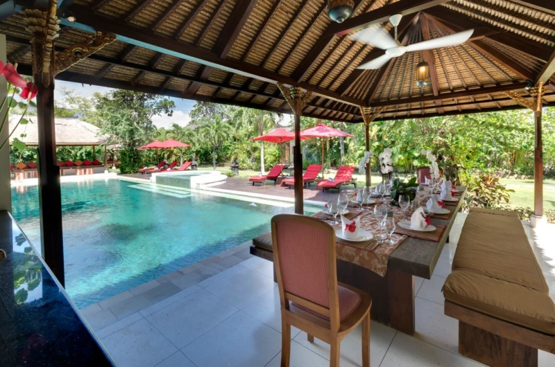 Dining with Pool View - Villa Kalimaya One - Seminyak, Bali